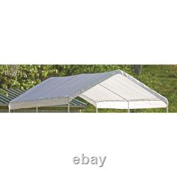 10 ft. W x 20 ft. D Max AP Canopy Cover in White Waterproof UV Resistant Fabric