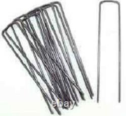 1000 CASE Ground Cover/Lanscape Fabric Stakes 6 Anchor Pins Sod Staples