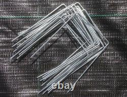 1000 x GALVANIZED METAL GROUND COVER PEGS / PINS WEED CONTROL ANCHOR STAPLES