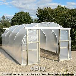 12FT Wide Poly Tunnel Domestic Garden Polytunnels Plastic Polythene Covers