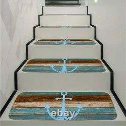 15Pc Stair Treads Carpet Rug Skid-Resistant Non-Slip Indoor Stair Mat Cover Set