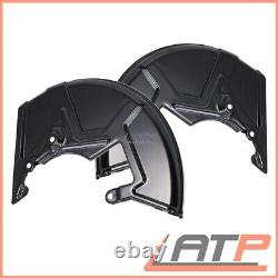2x Cover Dust Splash Anchor Plate For Brake Front Left+right Both Sides 32180077