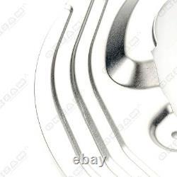 4x Ankerblech Bremsscheibe Set vorne hinten für BMW 1er E81 E82 E87 E88