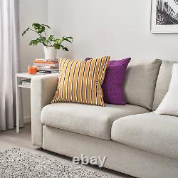5 X FUNKÖN Cushion cover, in/outdoor, dark yellowithpurple50x50 cm