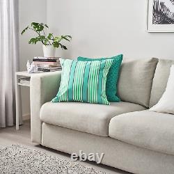 5 X FUNKÖN Cushion cover, in/outdoor, turquoise/green50x50 cm