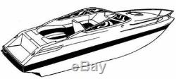 7oz BOAT COVER CHAPARRAL 225 SSI WIDE TECH With ANCHOR ROLLER 2012-2017