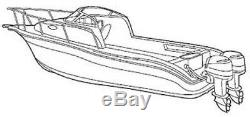 7oz BOAT COVER SCOUT 245 ABACO With TWIN ENGINES, ANCHOR DAVIT 12-2014