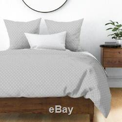 Anchor Anchors Nautical Pattern Cute Summer Ocean Sateen Duvet Cover by Roostery