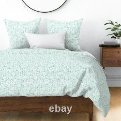 Anchor Mint Nautical Summer Mint Anchor Sateen Duvet Cover by Roostery