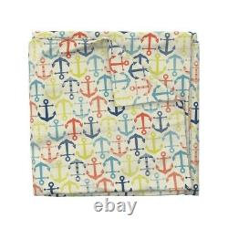 Anchor Nautical Geo Sateen Duvet Cover by Roostery