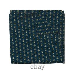 Anchor Nautical Nursery Navy Glitter Anchors Sea Sateen Duvet Cover by Roostery