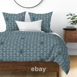 Anchors Anchor Nautical Sailing Boat Beach Sateen Duvet Cover by Roostery