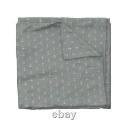 Anchors In And Light Texture Anchor Sateen Duvet Cover by Roostery