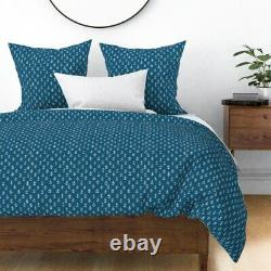 Anchors Nautical Sea Ships Sailing Navy Marine Sateen Duvet Cover by Roostery