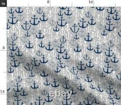 Anchors On Nautical Sailing Summer Boat Ocean Sateen Duvet Cover by Roostery