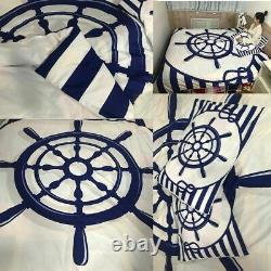 Bedding Quilt Cover 200x200 Anchor Printed Duvet Cover With Pillowcase King Size