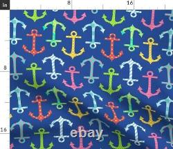 Colorful Anchors Rainbow Anchor Nautical Marine Sateen Duvet Cover by Roostery