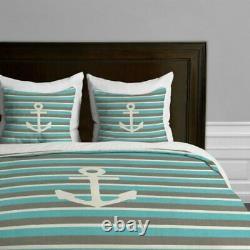 Deny Designs Bianca Green Anchor 1 Duvet Cover Queen