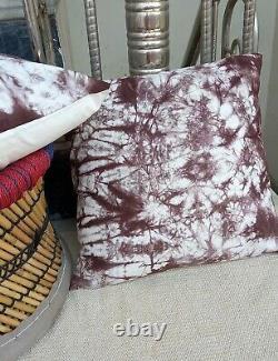 Ethnic Tie dye Cushion Cover Cotton Indigo Pillows 16 Shams Indian Throw S 2060
