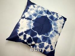 Ethnic Tie dye Cushion Cover lot Cotton Indigo Pillows 16 Handmade Indian Throw