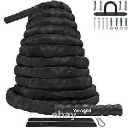 Exercise Training Rope Protective Cover Steel Anchor Strap 1.5 Inch Dia 30 Feet
