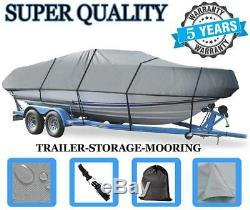 GREY BOAT COVER FOR HEWESCRAFT-WEST COAST 160 SPORTSMAN With ANCHOR ROL 08-19