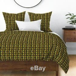Gold Shiny Chain Nautical Sail Anchor Sateen Duvet Cover by Roostery