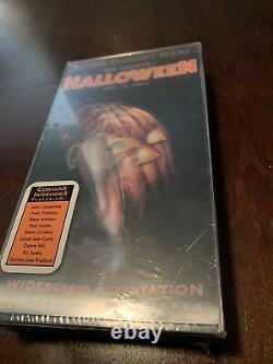 Halloween VHS 1999 Anchor Bay Lenticular Cover Remastered Horror SEALED RARE