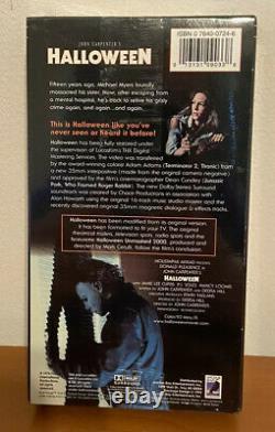 Halloween VHS Tape Lenticular Cover Horror Anchor Bay Rare New Sealed