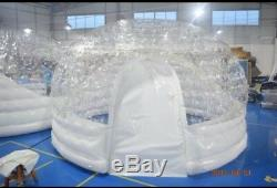 Inflatable Hot Tub Spa Solar Dome Cover Tent Structure With Pump & Anchors