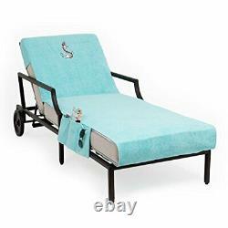 Linum Home Textiles CL45-SWP-ANC Anchor Chaise Lounge Cover Aqua