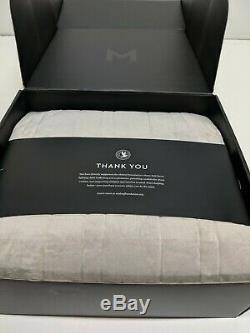 MALOUF ANCHOR Weighted Throw Blanket Deep Sleep Silky Soft Cover 48 x 72, 15lb