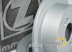 Mercedes C Class W203 Zimmermann Brake Discs Pads Spritzbleche Rear
