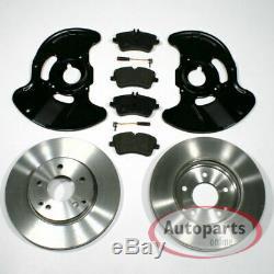 Mercedes CLK c209 Brake Discs Pads Sensor 2 Spritzbleche for Front