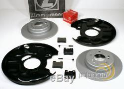 Mercedes Coupe C124 Zimmermann Brake Set Sensor Spritzbleche for Rear