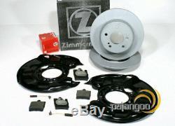 Mercedes SLK R171 zimmermann Brake Discs Pads Spritzbleche for Rear
