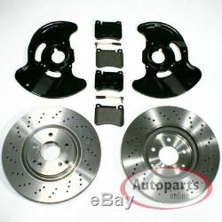 Mercedes SLK r171 Brake Discs Perforated Brake Pads 2 Spritzbleche for Front