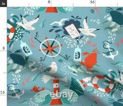 Message In A Bottle Vintage Anchor Blue Ocean Sateen Duvet Cover by Roostery