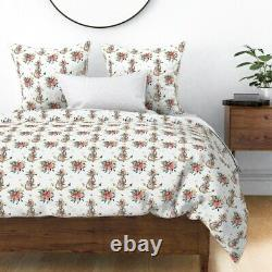 Modern Nautical Anchor Floral Sea Nursery Summer Sateen Duvet Cover by Roostery