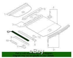 NEW Genuine Audi Anchor Cover Retainer Strip 80A863555 4PK