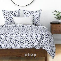 Nautical Adventure Ship Anchor Sail Whales Sateen Duvet Cover by Roostery