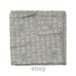 Nautical Anchor Boy Nursery Neutral Hipster Sateen Duvet Cover by Roostery