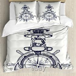 Nautical Duvet Cover Marine Composition Anchor