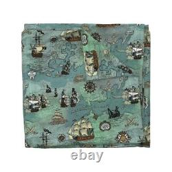 Pirate Map Ships Ocean Anchor Sailor Nautical Sea Sateen Duvet Cover by Roostery