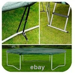 Plum Accessory Pack 8ft Trampoline Cover Ladder Anchoring Kit Windproof Green