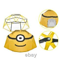 Plum Metal Climbing Frame Dome Minions 3 Years + Polyester Cover + Anchors