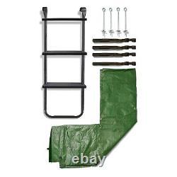 Plum Trampoline Accessory Kit 10ft 12ft 14ft Ladder, Cover & Anchor Kit