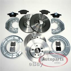 Saab 900 II Brake Discs Brake Brake Pads 2 Spritzbleche for Front Rear