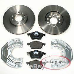 Saab 900 II Brake Discs Pads 2 Spritzbleche For Front Axle
