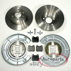 Saab 900 II Brake Discs Pads 2 Spritzbleche Handbrake Accessories For Rear